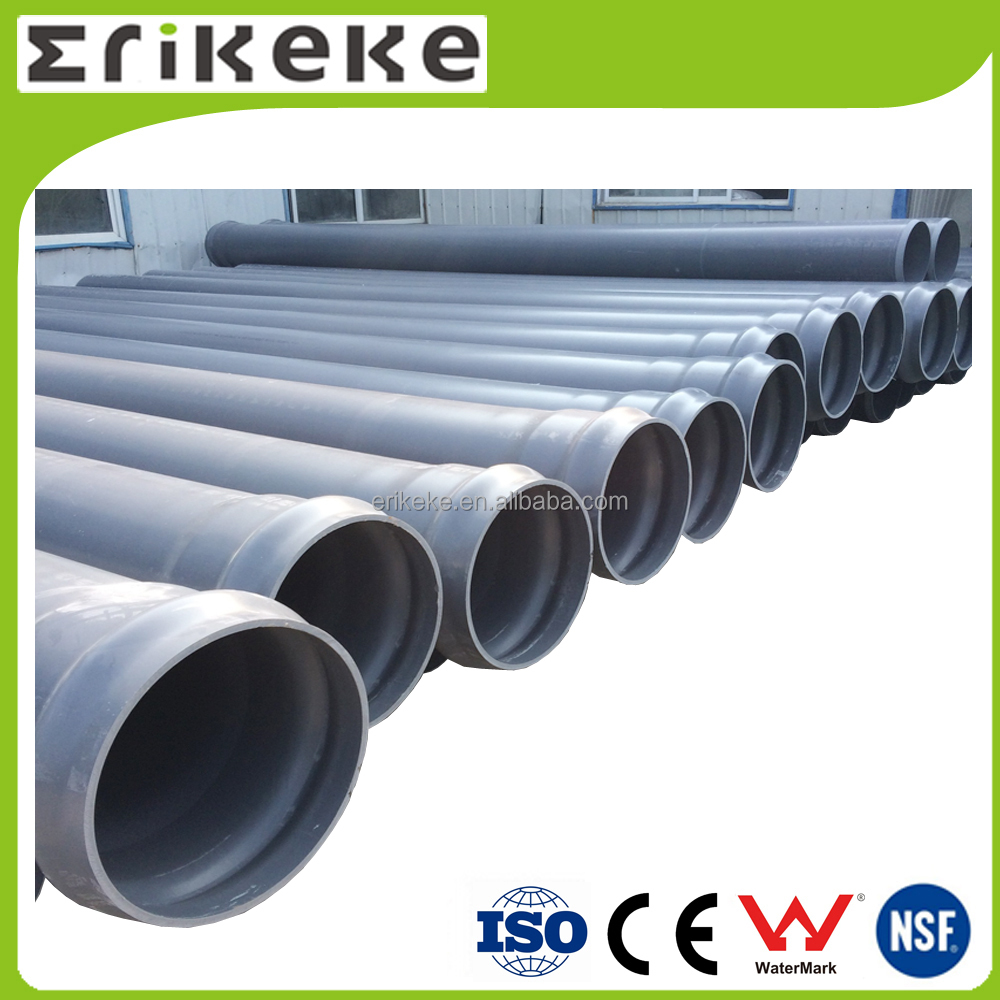 Factory new material belled end 200mm pvc pipe price
