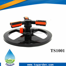 Newest 2017 hot products Plastic three arm rotation irrigation sprinkler