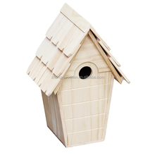 hot selling FSC&BSCI decorative outdoor garden wild wooden bird cage house in pet cages