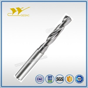 3D Internal Coolant Solid Carbide Twist Drilling Bit for Steel Machining