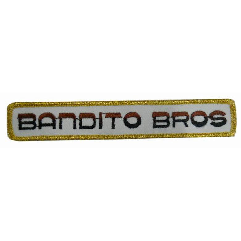 custom BROS gold border Sew Iron on embroidery Patch