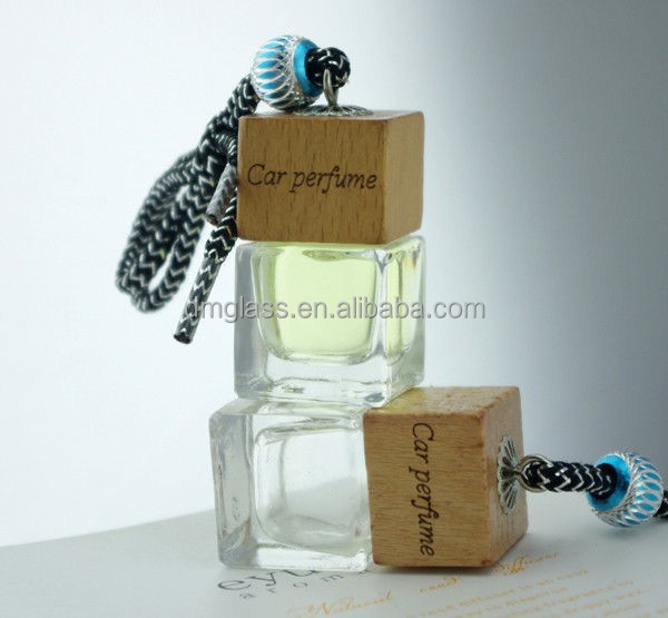 10ml Square New Fashion Glass Hanging Car Perfume Diffuser Bottle