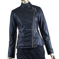 Ladies Fashion Black Leather Jacket
