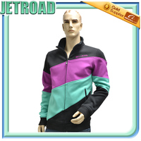Men breathable membrane windbreaker Softshell Jacket with multi colors combination