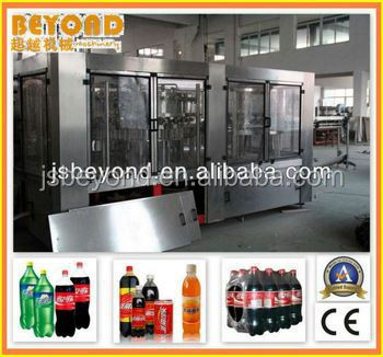 aerated drinks production and bottling line