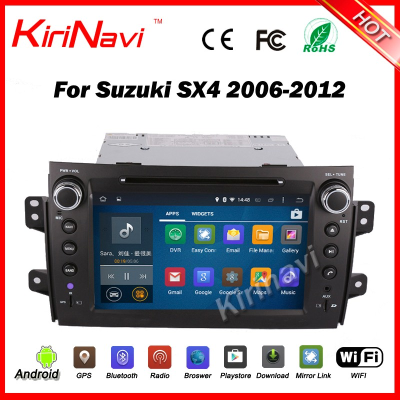 Kirinavi WC-SS8081 android 5.1 touch screen car radio gps for suzuki sx4 2006-2012 multimedia system wifi 3g bt playstore