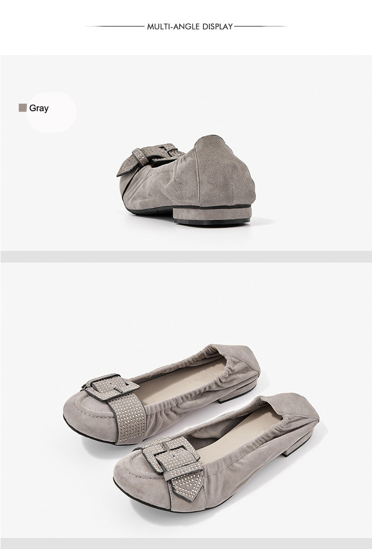 low neck new arrival fancy leather loafer shoes latest for women