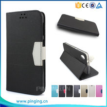 Frosted Sand Grain PU Magnetic Flip Leather Case For Alcatel One Touch Pop 4S