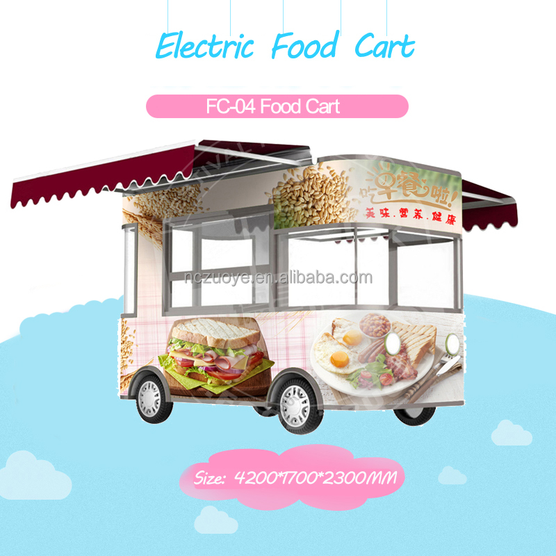 New designed mobile catering trailer/mobile food truck/mobile restaurant food cart