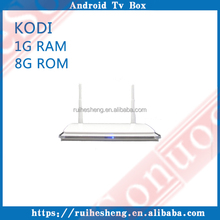 Free shipping Google play APK with RK3128 1GB RAM 8GB ROM Cheapest android smart tv box