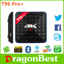 Dragonbest T96 Pro+ Amlogic 912 3g 32g set top box support google play apk install international Android 6.0 TV Box