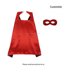 Special Red Costume Justice Hero Cape and Face Masks Fancy Party Dress up