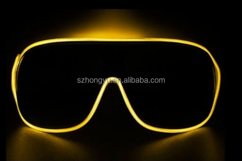Plastic Fashionable Amazing Crazy Funny EL Wire Glasses