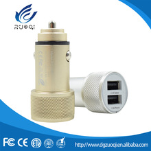Promotional custom Logo 2 dual usb port universal car charger