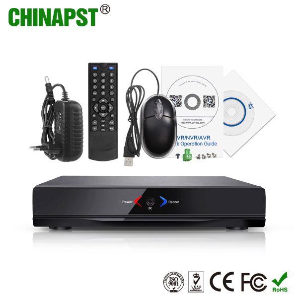 China manufacture support APP CCTV security ip camera PTZ 8 port DVR recorder P2P 1080P 8 channel nvr dvr PST-NVR008