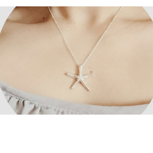 Best Hot Sell Design Starfish Necklace Simple short silver Gold Chain Collar delicate starfish Necklace