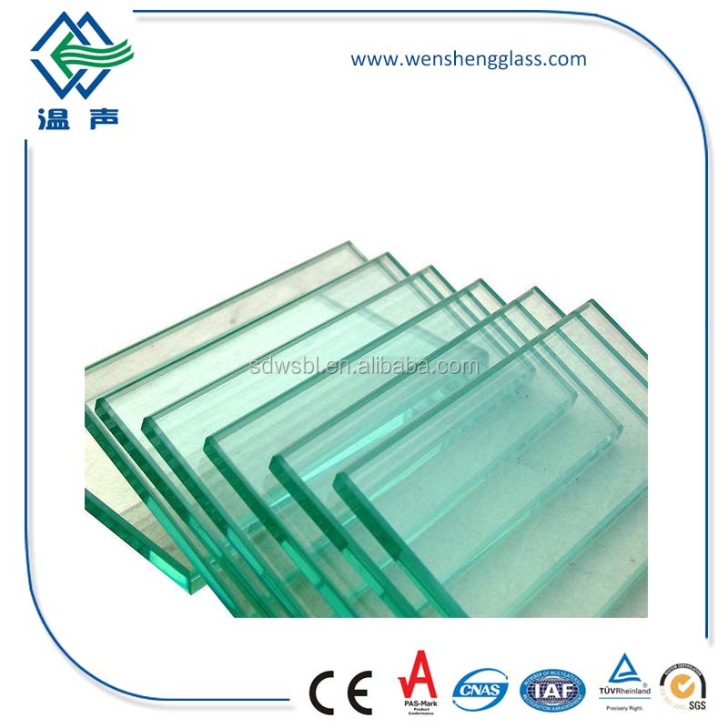 4-12mm high-class flat tempered glass for door & walls