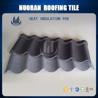 Nuoran decorative stone for roofing shingles prices new type steel flat shingle roof tile