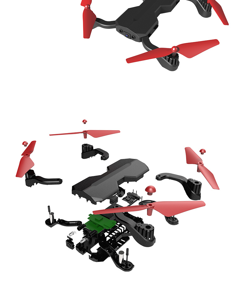 App Control Foldable rc Quadcopter Drone With HD Camera