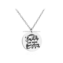 Faith Can Move Mountains Jesus God Christian Bible Inspirational Jewelry Pendant Necklace