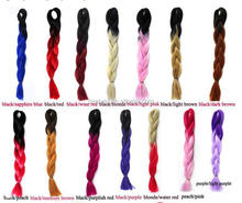 Alibaba xpression hair ombre color synthetic braid 165g 82 inch braid 2-3 tone color