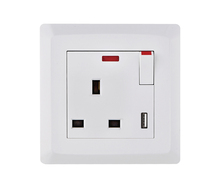 1 gang multi function 3 pin Switch Socket with Neon&SV