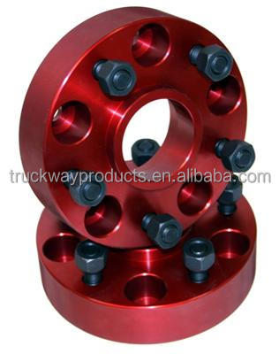 Red anodization wheel spacers