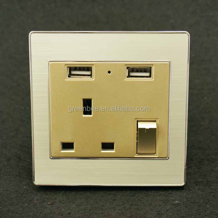 China supplier manufacture electric wall switch and socket power strip usb