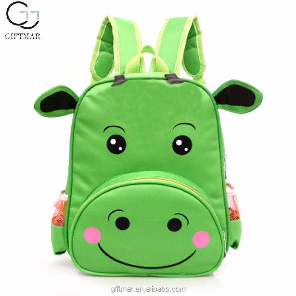 China supplier promotional animal backpack, cute Hippo child school bag