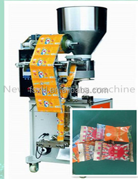 Small vertical packing machine for shelled peanuts packing