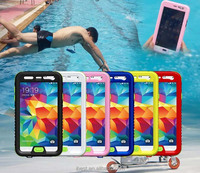 dirt proof case waterproof for samsung galaxy S5 i9600 also with shock proof function newest design water proof case
