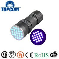 390~395nm 21 LED Ultra Violet Blacklight Pocket Flashlight for Scorpions and Bed Bugs, Counterfeits, A/C Leaks and Pet Stains