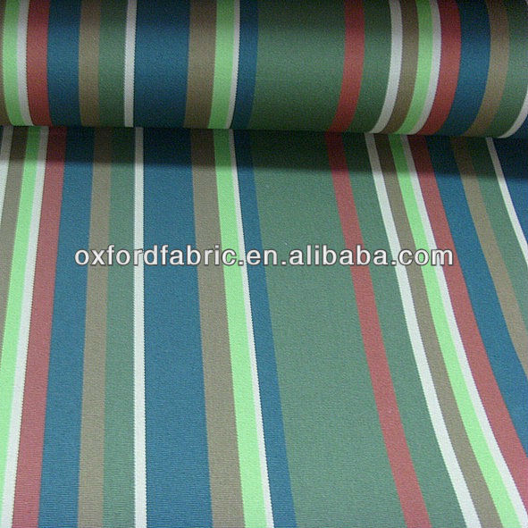 wholesale polyester cheap stripe awning fabric for middle east market canvas tent oxford fabric