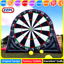 ZZPL inflatable football dart board game, outdoor inflatable soccer dart for sale