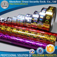 2016 New Design Colorful Custom Hologram