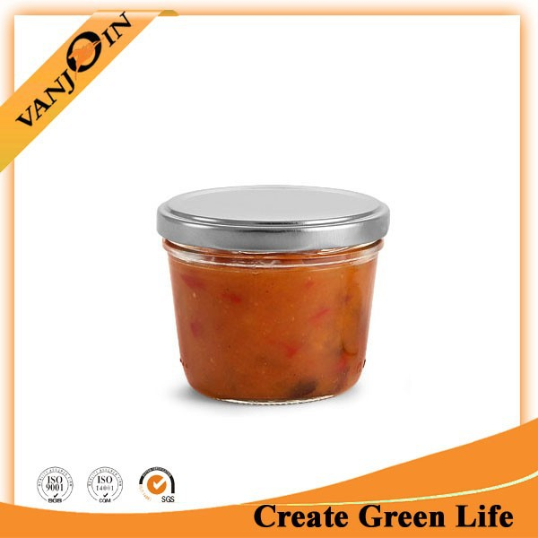 Wide Mouth Canning Glass Jam Jar With Lid 230ml