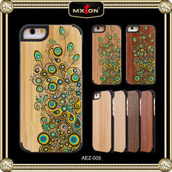 Luxury Quality Diamont Cherry Wood Anti Shock Case For Iphone 5
