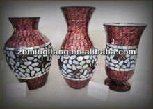 mosaic glass vases