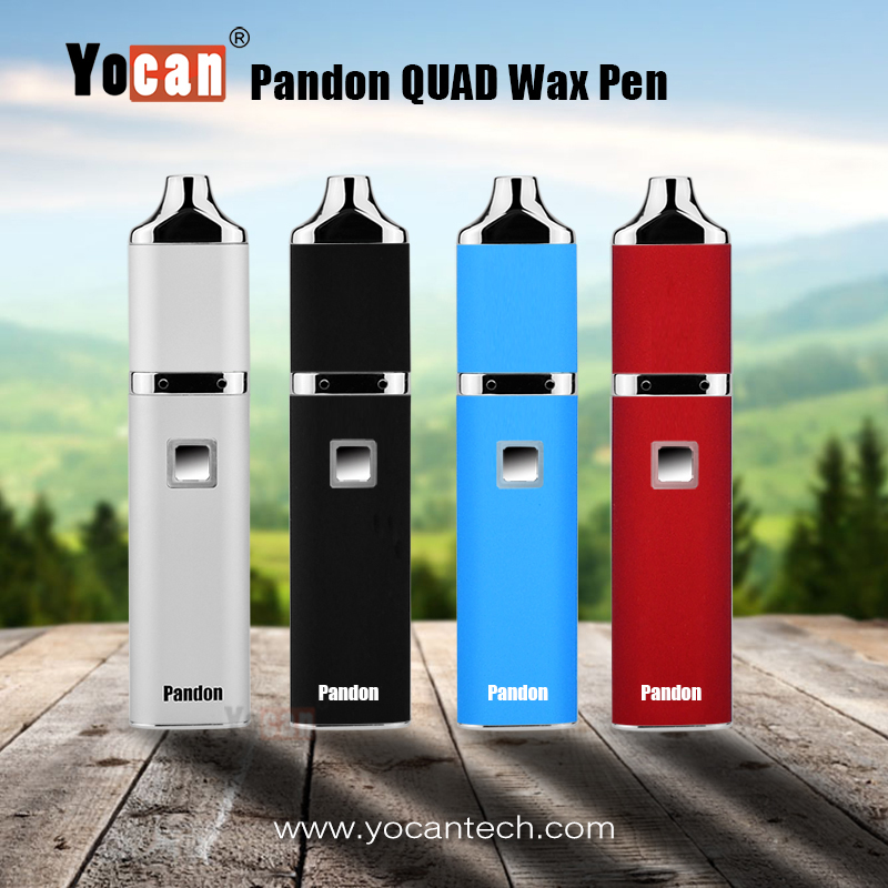 Original Yocan Pandon Kit QUAD Wax Pen Kits 1300mAh Battery 4 Coils Kits 2 QDC Voltage Adjustable Yocan Evolve Coil
