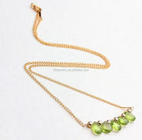gold filled jewelry wholesale natural olivine beads pendant 14k gold filled jewelry