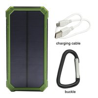 Dual Ports Micro USB Solar Charger 15000mAh Waterproof Pokemon Mobile Power Bank for iPhone