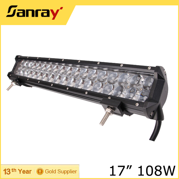 4D 17inch 108W LED Light Bar Spot Flood Combo Work Lights 4x4 Off Road 4WD LED Driving Light