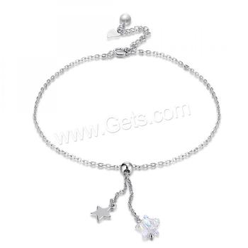 fashion jewelry real silver plated summer beach jewelry brass girls anklet with pearl crystal star charm
