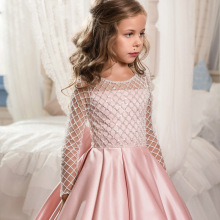 LSW146 OEM ball gown <strong>girl's</strong> <strong>dress</strong> kids long sleeve first communion <strong>dresses</strong> kids evening gowns party <strong>dress</strong> for girls