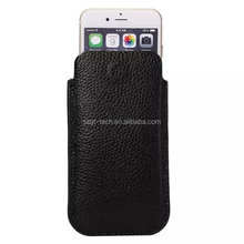 Oem Design Litchi grain Wallet Pouch bag vertical genuine Leather Phone Cases For iphone 6 6s