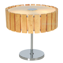 Chinese hotel decor wood bedside modern acrylic table lamp housing