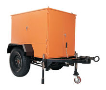 Mobile Transformer oil treatment/ Insulating oil purification enclosed in canopy and mounted on trailer
