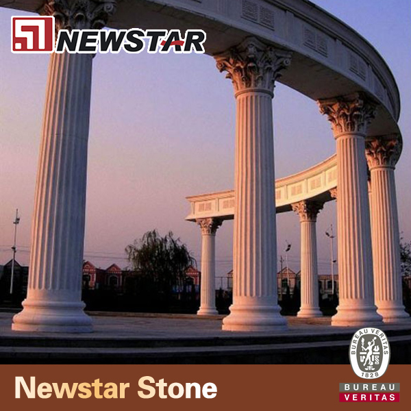 Grey Stone Pillars : Grey granite gate pillar stone roman column buy