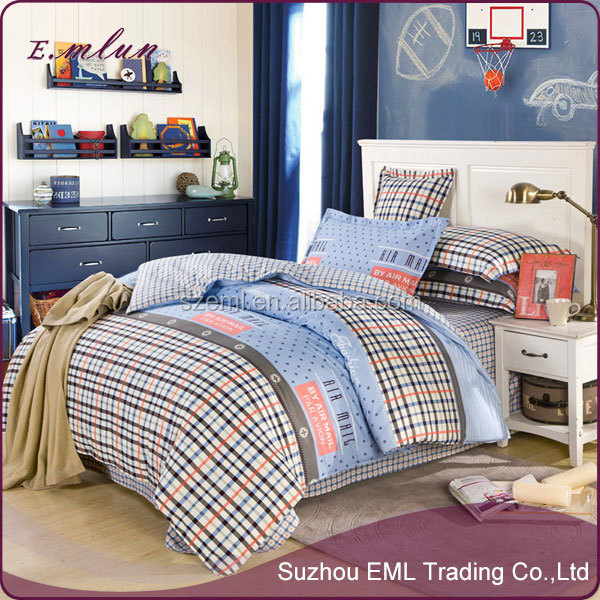 hand made pure cotton bedclothes and half reactive printed twill cotton bedding four sets EML-12-W1003