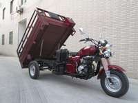 200CC SY200ZH-A2 three wheel motorcycle cargo tricycle with spring absorber and water cooled engine and double board